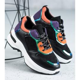 SHELOVET Casualowe Sneakersy czarne 4
