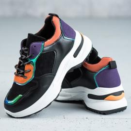 SHELOVET Casualowe Sneakersy czarne 5