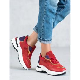 SHELOVET Casualowe Sneakersy czerwone 2