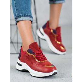 SHELOVET Casualowe Sneakersy czerwone 3