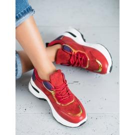 SHELOVET Casualowe Sneakersy czerwone 4