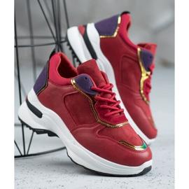 SHELOVET Casualowe Sneakersy czerwone 1