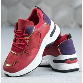 SHELOVET Casualowe Sneakersy czerwone 5