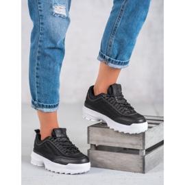 SHELOVET Modne Buty Sportowe czarne 5