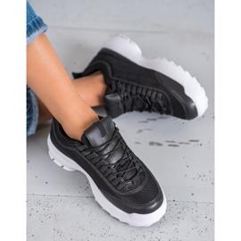 SHELOVET Modne Buty Sportowe czarne 1