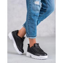SHELOVET Modne Buty Sportowe czarne 4