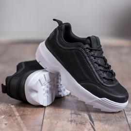 SHELOVET Modne Buty Sportowe czarne 2