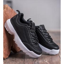 SHELOVET Modne Buty Sportowe czarne 3
