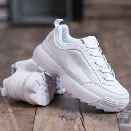 SHELOVET Modne Buty Sportowe białe 5