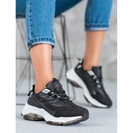 Kayla Wiązane Sneakersy Snake Print czarne 2