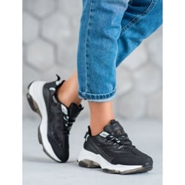 Kayla Wiązane Sneakersy Snake Print czarne 1