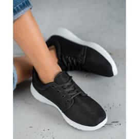 SHELOVET Tekstylne Obuwie Sportowe czarne 1