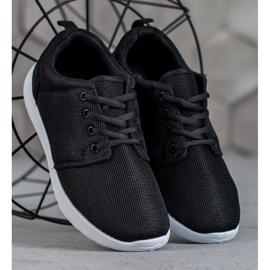 SHELOVET Tekstylne Obuwie Sportowe czarne 3