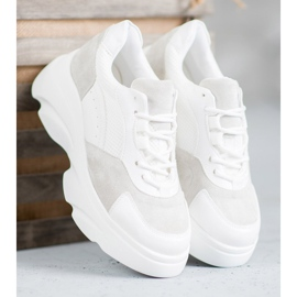 Seastar Buty Sportowe Na Platformie białe 4