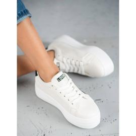SHELOVET Białe Buty Na Platformie 4