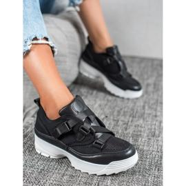 SHELOVET Czarne Buty Sportowe Fashion 3