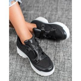 SHELOVET Czarne Buty Sportowe Fashion 4
