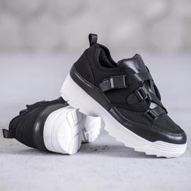 SHELOVET Czarne Buty Sportowe Fashion 1