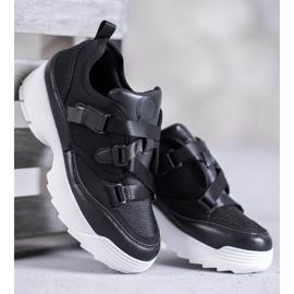 SHELOVET Czarne Buty Sportowe Fashion 2