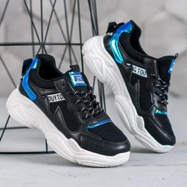 SHELOVET Wygodne Buty Sportowe czarne 3