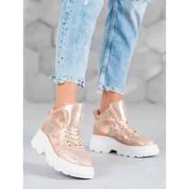 Seastar Ocieplane Sneakersy różowe 3