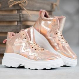 Seastar Ocieplane Sneakersy różowe 4