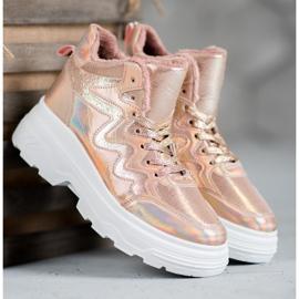 Seastar Ocieplane Sneakersy różowe 5