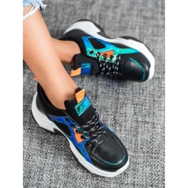 SHELOVET Buty Sportowe Z Efektem Holo czarne 4