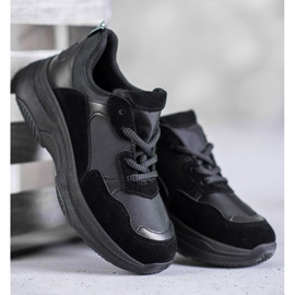 SHELOVET Czarne Buty Sportowe 4