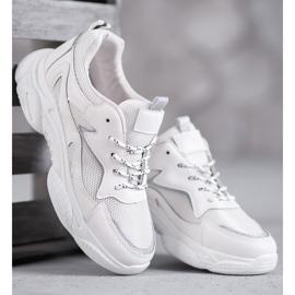 SHELOVET Klasyczne Buty Sportowe białe 3