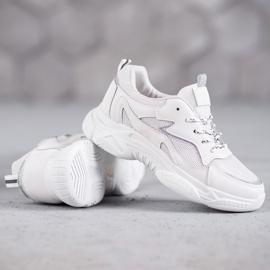SHELOVET Klasyczne Buty Sportowe białe 4