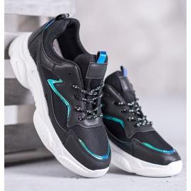 SHELOVET Klasyczne Buty Sportowe czarne 2