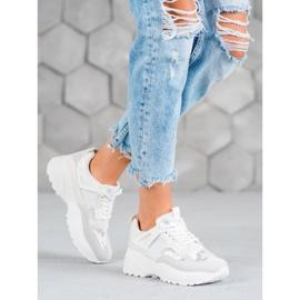 SHELOVET Białe Sneakersy Moro 1