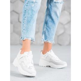 SHELOVET Białe Sneakersy Moro 2
