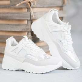 SHELOVET Białe Sneakersy Moro 3