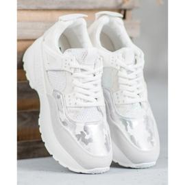 SHELOVET Białe Sneakersy Moro 4