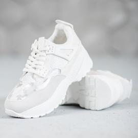 SHELOVET Białe Sneakersy Moro 5
