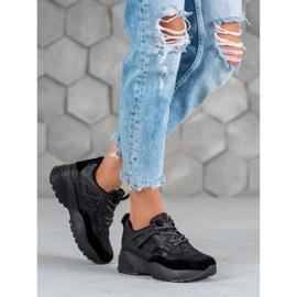 SHELOVET Czarne Sneakersy Moro 1