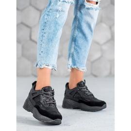 SHELOVET Czarne Sneakersy Moro 2
