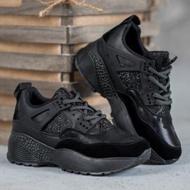 SHELOVET Czarne Sneakersy Moro 3