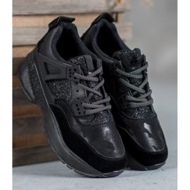 SHELOVET Czarne Sneakersy Moro 4