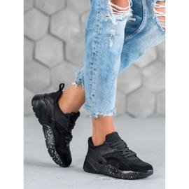 Muto Wygodne Sneakersy Moro czarne 1