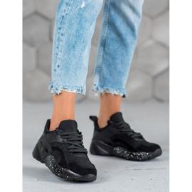 Muto Wygodne Sneakersy Moro czarne 2