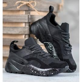 Muto Wygodne Sneakersy Moro czarne 3