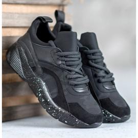 Muto Wygodne Sneakersy Moro czarne 4