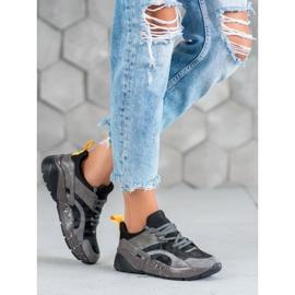 Muto Wygodne Sneakersy Moro szare 2