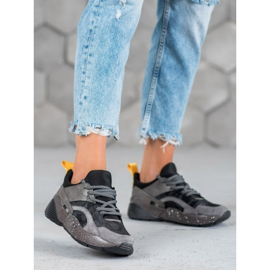 Muto Wygodne Sneakersy Moro szare 3
