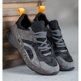 Muto Wygodne Sneakersy Moro szare 1