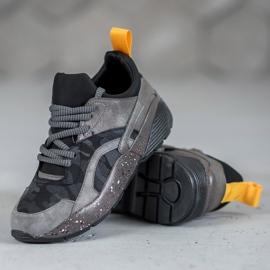Muto Wygodne Sneakersy Moro szare 4