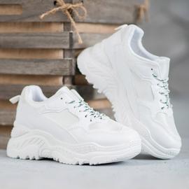SHELOVET Białe Sneakersy 5